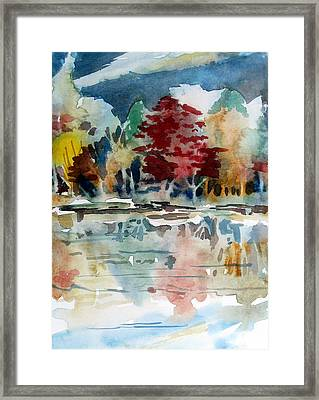Deep Into Autumn Framed Print by Mindy Newman