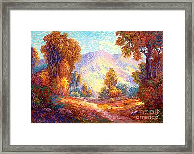 Radiant Peace, Colors Of Fall Framed Print by Jane Small