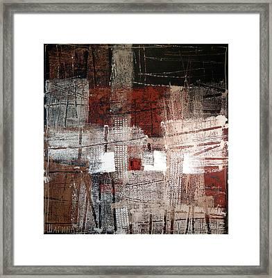 Deep Red Framed Print by Olga Shagina