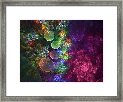 Deep Sea Flora I Framed Print by Amorina Ashton