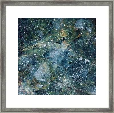 Deep Space Blue/green #1 Framed Print by Adrienne Martino