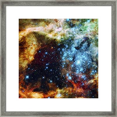Deep Space Fire And Ice 2 Framed Print by The  Vault - Jennifer Rondinelli Reilly