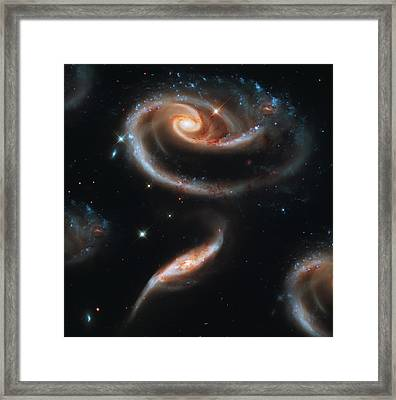 Deep Space Galaxy Framed Print by The  Vault - Jennifer Rondinelli Reilly