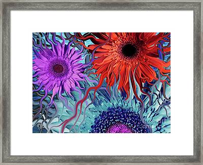 Deep Water Daisy Dance Framed Print by Christopher Beikmann