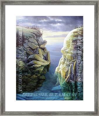 Deep Water Framed Print by Graham Braddock