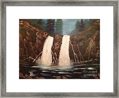 Deep Woods Waterfall Framed Print by Tim Blankenship