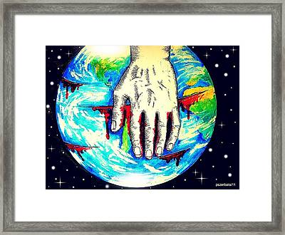 Deep Wounds Framed Print by Paulo Zerbato