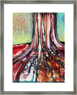 Deeply Rooted I Framed Print by Shadia Derbyshire