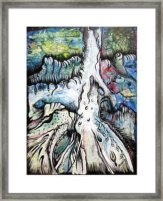 Deeply Rooted IIi Framed Print by Shadia Zayed