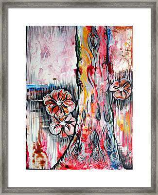 Deeply Rooted V Framed Print by Shadia Derbyshire