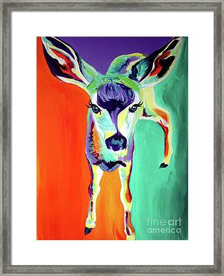 Deer - Fawn Framed Print by Alicia VanNoy Call