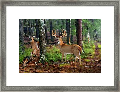 Deer Art - Dream Of Opening Day Framed Print by Dale Kunkel Art