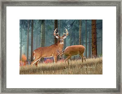Deer Art - King Of The Forest Framed Print by Dale Kunkel Art
