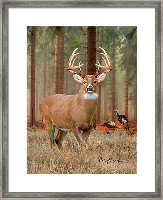 Deer Art - The Legend Framed Print by Dale Kunkel Art