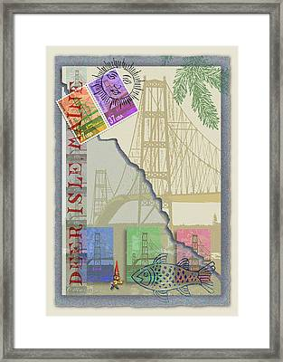 Deer Isle Collage Framed Print by Ernestine Grindal