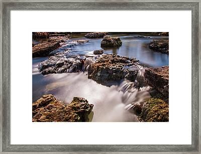 Deer Lake Riffles In Forest Park, St Louis, Missouri Framed Print by Garry McMichael