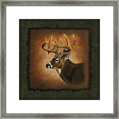 Deer Lodge Framed Print by JQ Licensing