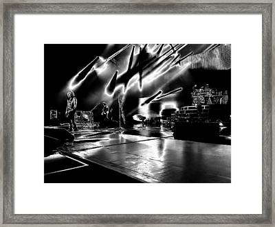 Def Leppard At Saratoga Springs 5 Framed Print by David Patterson