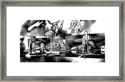 Def Leppard At Saratoga Springs 6 Framed Print by David Patterson
