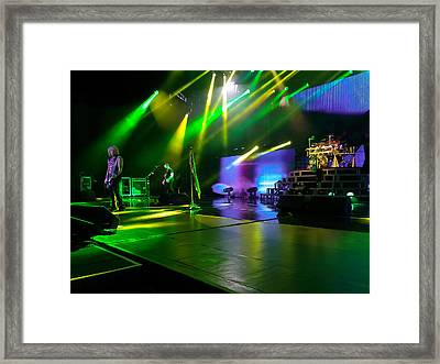Def Leppard At Saratoga Springs Framed Print by David Patterson