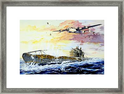 Defending The Coast Framed Print by Charles Taylor