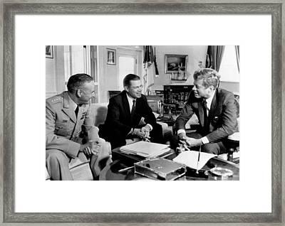 Defense Secretary Robert Mcnamara Framed Print by Everett