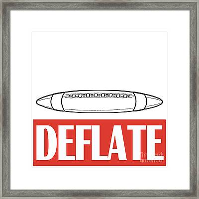 Deflate Framed Print by Edward Fielding
