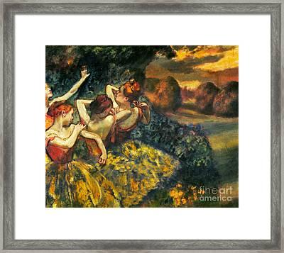 Degas: Four Dancers, C1899 Framed Print by Granger