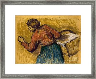 Degas: Laundress, C1888-92 Framed Print by Granger