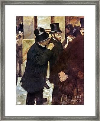 Degas: Stock Exchange Framed Print by Granger