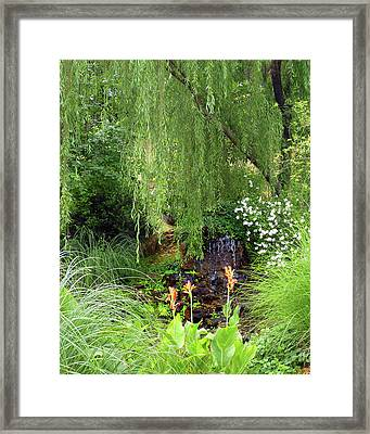 Degray Lake Waterfall Framed Print by Carla Parris