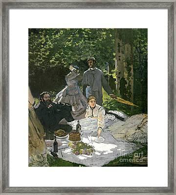 Dejeuner Sur Lherbe Framed Print by Claude Monet