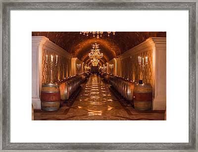 Del Dotto Wine Cellar Framed Print by Scott Campbell
