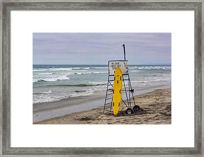 Del Mar Lifeguard Tower Framed Print by Randy Bayne