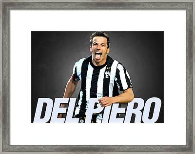 Del Piero Framed Print by Semih Yurdabak