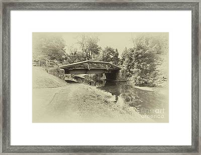 Delaware Camnal In Black And White Framed Print by Tom Gari Gallery-Three-Photography