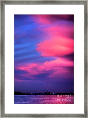 Delaware River Spectacular  Framed Print by Olivier Le Queinec