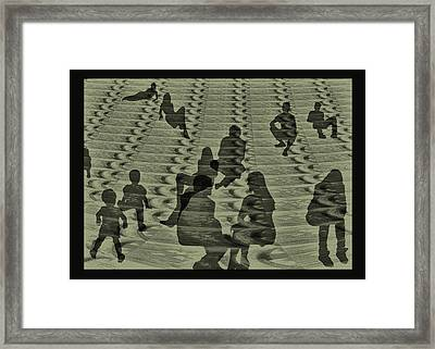 Delayed Reopening At The Pearly Gates Framed Print by Wendy Rickwalt