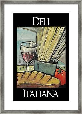 Deli Italiana Pasta Poster Framed Print by Tim Nyberg
