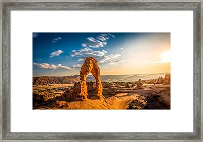 Delicate Arch #3 Framed Print by Jon Manjeot
