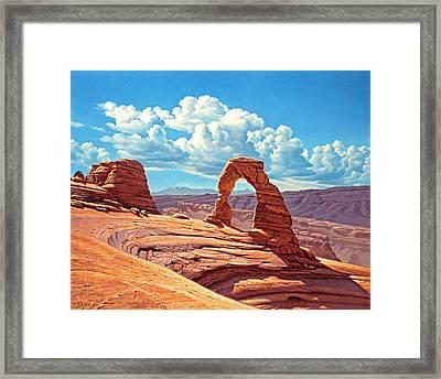 Delicate Arch Framed Print by Paul Krapf