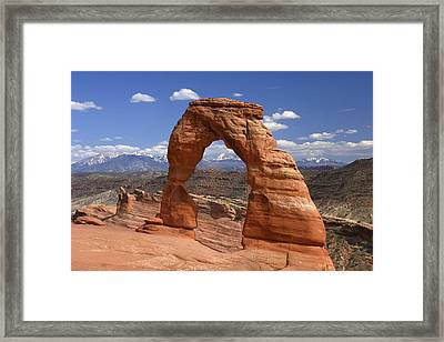 Delicate Arch Framed Print by Winston Rockwell