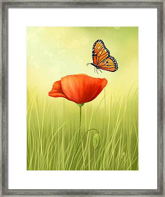 Delicate Friendship Framed Print by Veronica Minozzi