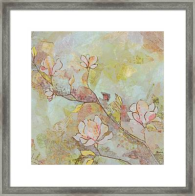 Delicate Magnolias Framed Print by Shadia Zayed