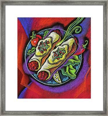 Delicious Anchilada Framed Print by Leon Zernitsky