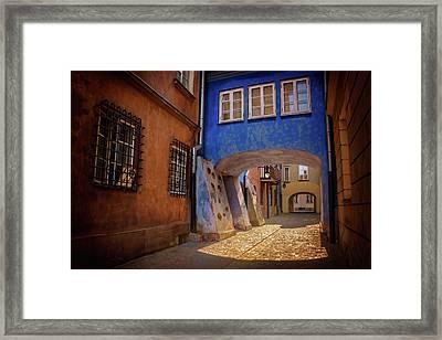Delightful Dawna Street Warsaw  Framed Print by Carol Japp