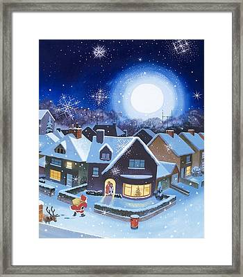 Delivery By Father Christmas Framed Print by English School