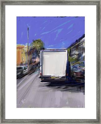 Delivery Framed Print by Russell Pierce