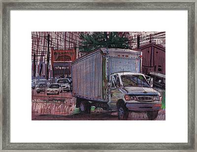 Delivery Truck 2 Framed Print by Donald Maier