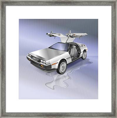 Delorean Framed Print by Marty Garland